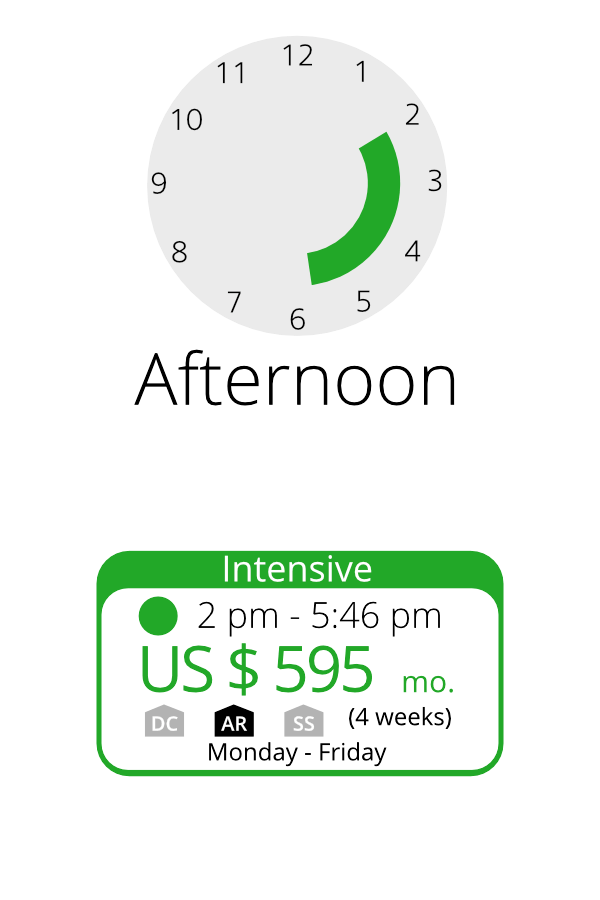 Arternoon schedule time