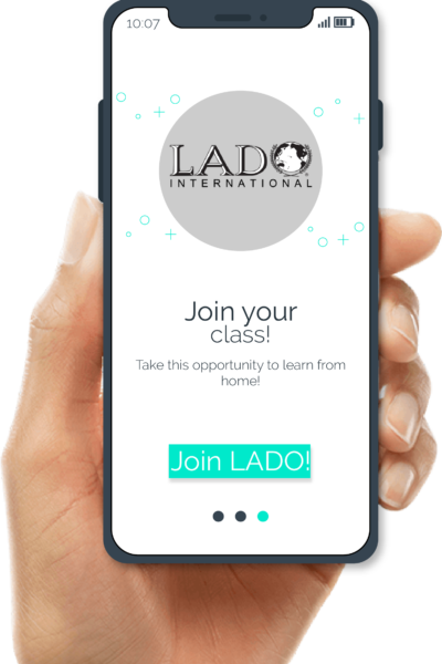 LADO Phone in hand