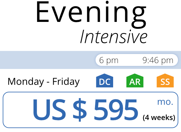 Evening schedule time